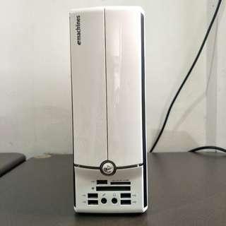 二手良品ACER宏碁桌電 eMachines EL1851雙核Win7娛樂迷你電腦(白)