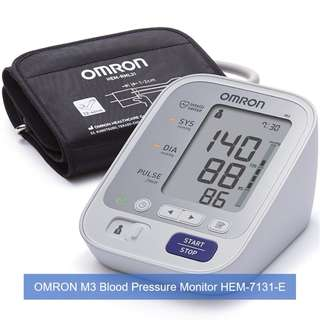 [Brand New] OMRON Healthcare M3 Upper Arm Blood Pressure Monitor and FREE SAME DAY DOORSTEP DELIVERY at S$85!