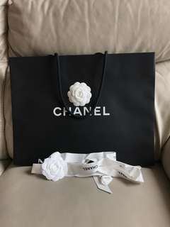 Chanel paper bag with ribbon 🎀