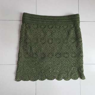 Embroidery lace skirt size xl
