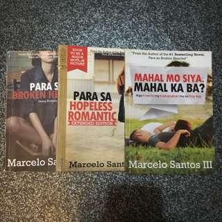 Para sa Brokenhearted, Para sa Hopeless Romantic, Mahal mo siya, mahal ka ba BOOKS by MARCELO SANTOS III