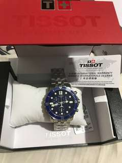 Tissot Seastar Chronograph Blue Dial Stainless Steel T06641711047 NEW
