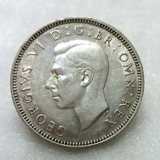 😀UK King George Vi One Shilling 1945 (Silver Coin)