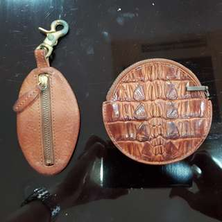 Genuine leather coin pouch