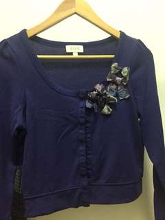 Purple Light cover jacket cardigan