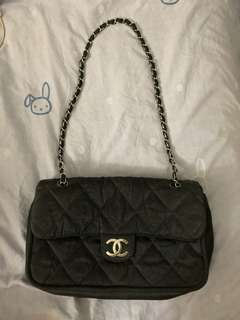 Authentic Chanel Fabric Flap
