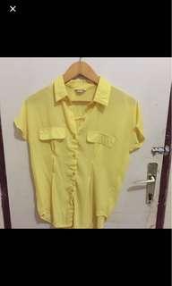 Baju Kemeja kuning
