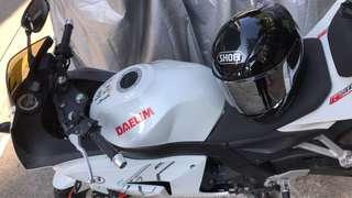 Shoei 頭盔 RF-1200 Z7 jet black M size + sliver mirror visor 99%new