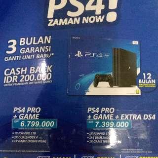 PS 4 Pro 1 Stik Cicilan Tanpa kartu kredit
