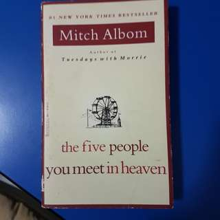 the five people you meet in heaven Mitch Albom Books