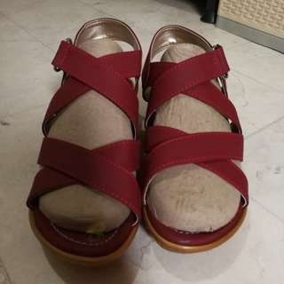 Red Sandals (made in Liliw, Laguna)