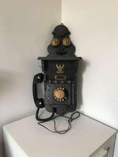 懷舊 有線電話 擺設 裝飾