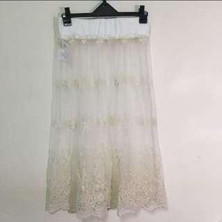 「全新」最後一件!日系布蕾絲紗裙 超百搭 超美!