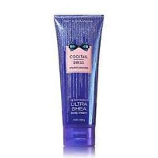Bath & Body Works Cocktail Dress Crystal Peonies Ultra Shea Body Cream 226g