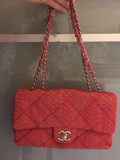 Chanel Python Handbag 紅色蛇皮手袋