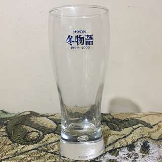 Vintage Sapporo Beer Clear Beer Glass Collection