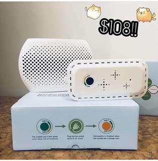 無線電子吸濕器🌸吸濕一流🔆 特點: 1. 體積輕巧 2. 小空間適用  3. 簡易操作 4. 低耗電量🤤 💟吸飽濕氣時, 可插電還原💓重複使用,省錢環保💟
