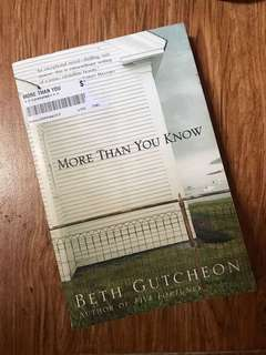 More than You Know