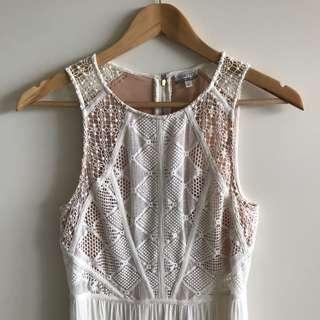 Gorgeous Tokito White Slit Leg Maxi Dress
