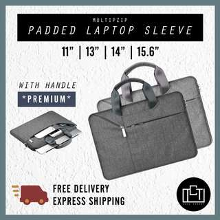 🔅cT🔅 Premium padded NON SLING carrying handle new laptop sleeve bag for all laptops brands waterproof