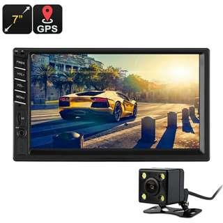 7 Inch Car Android Media Player - 2 DIN, Rear Parking Camera, Bluetooth, GPS, AM/FM Radio, USB, SD Card Slot (CVAIY-C628)