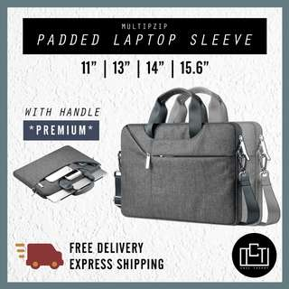 🔅cT🔅 Premium padded sling briefcase with inner padding laptop sleeve bag handle with shoulder strap SLING carrying handle
