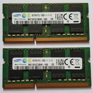 8GB Samsung PC3L-12800 SODIMM RAM for laptop (DDR3L‐1600)