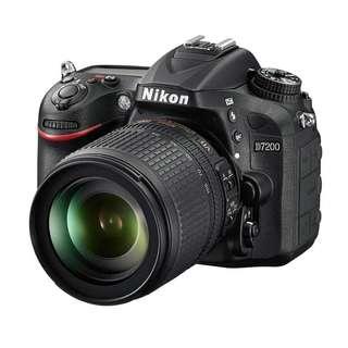 Nikon D7200 with 18-105 VR lens
