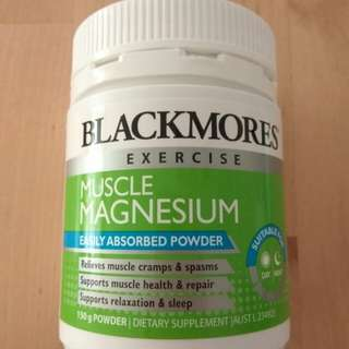 Blackmores exercise muscle magnesium 150g powder