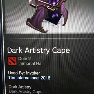 Dota 2 Items (Dark Artistry Cape, hair)