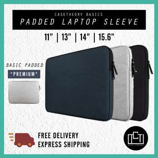 🔅cT🔅 Laptop Cover BASIC ZIP Sleeve With inner padding for ALL laptops laptop bag casing sleeve
