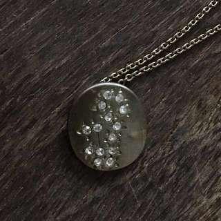 Virgo diamanté fine necklace not dior Laura catbird horoscope choker 處女座碎石頸鍊
