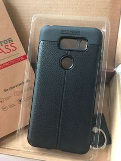 LG V30 黑色手機殼+ 保護玻璃