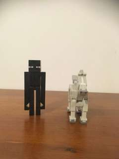 Enderman and Horse Figures