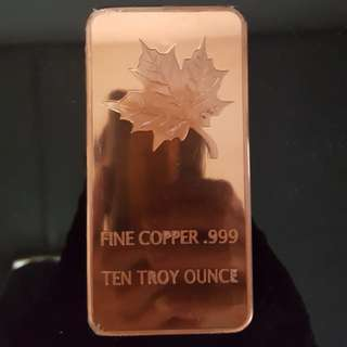 Canada copper bar 10oz