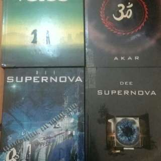 Langa Supernova Collection isi 4 buku + tandatangan Dewi Lestari