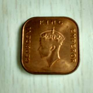 King George VI 1 cent coin