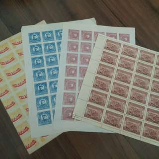 Early China Stamp Sheets!