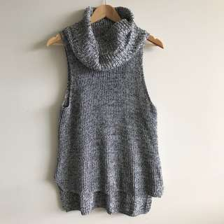 Sportsgirl Grey Sleeveless Knit Top
