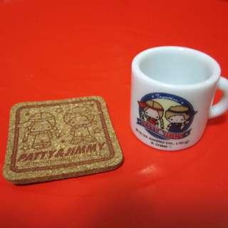 Sanrio Patty&Jimmy 小茶杯及杯墊