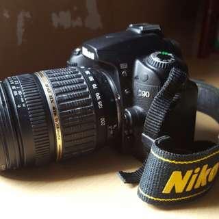 NIKON D90 FULLSET LENS 18-200MM