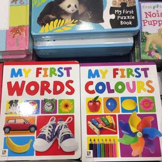 My first colours & words board book