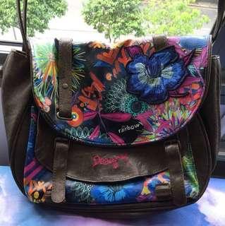 Desigual Leather Sling Bag/ Messenger Bag