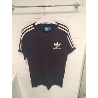 Adidas BLack Three Stripe Tee