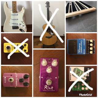Pedals and guitars
