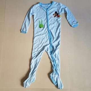 Kid's 24M Disney Store Mickey Mouse One Piece Pyjamas Used, Kid's Clothes