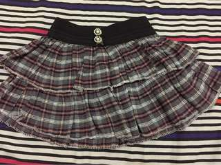 Plaid Tiered skirt