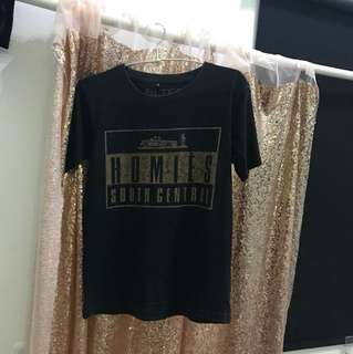 Bltee South Central East Black Gold Tee