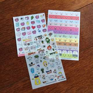 Cute planner stickers sheets kawaii DIY heart coffee pig