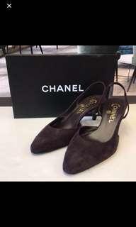 清貨全新 Chanel Satin Leather Sandals